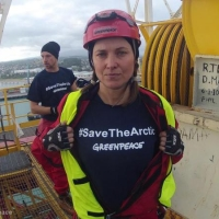 Actor Lucy Lawless joins Greenpeace New Zealand activists in stopping a Shell-contracted drillship from departing the port of Taranaki for the remote Arctic, where its exploratory oil drilling programme threatens to devastate the Alaskan coastline. Six Greenpeace New Zealand activists, along with Lawless, famous for her roles in 'Xena: Warrior Princess' and 'Spartacus', board the vessel, scaled its 53 metre drilling derrick and are hanging banners from its summit, reading Stop Shell and #SaveTheArctic. They are equipped with survival gear and enough supplies to last for several days.