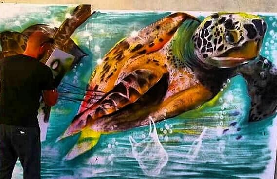 tartaruga plastica