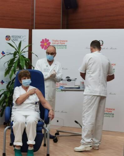 dottoressa Capobianchi vaccinata