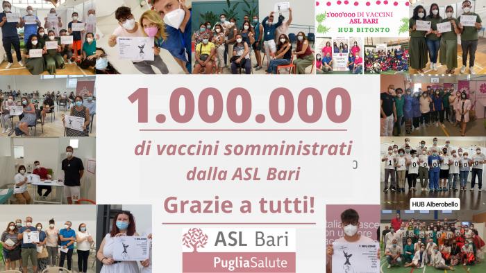 1 milione di vaccini asl bari