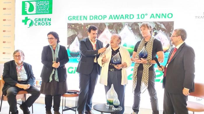 premio alla carriera Lino Banfi Ronn Moss Green Drop Award 2021