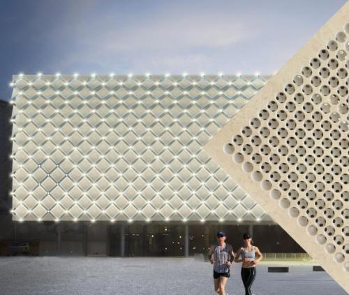 Architettura Design Poliba Marmomac- 2. Virtual Lithic Screens, Uso in facciata di edificio