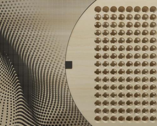 Architettura Design Poliba Marmomac- 3. Virtual Lithic Screens, Dettagli installazione Marmomac